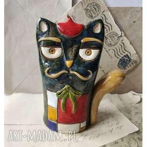 wyjątkowy prezent, kot mondriana, ceramika, kot, malarz, artysta, mondrian