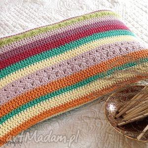 poduszka multikolor no 2, poduszka, poszewka, multikolor, bawełna, szydełkowa