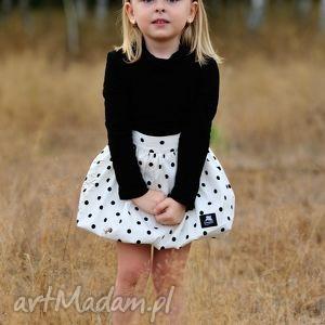 ubranka spódniczka bombka biała w kropki, spódniczka, bombka, styl dla dziecka
