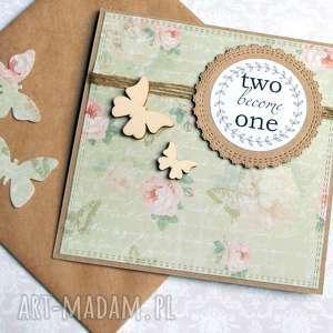 kartka ślubna handmade :: motyle, ślub,