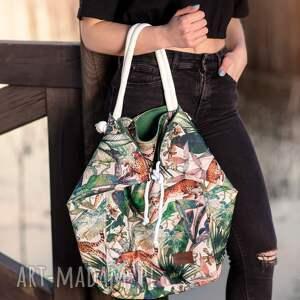 ręcznie wykonane torebki duża wzorzysta torebka plażowa wodoodporna na ramię