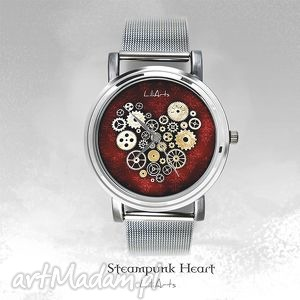 bransoletki zegarek, bransoletka - steampunk heart fantasy watch,