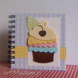 damusia mały notesik kulinarny - czekoladowa wisienka, notes, kulinarny, przepiśnik