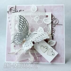 Z motylem, życzenia, ślub, mama