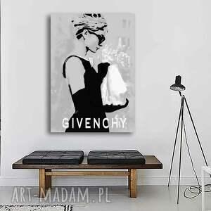 audrey hepburn obraz na płótnie rozmiar 50 x 70 cm, moda, kobiety, dekoracja