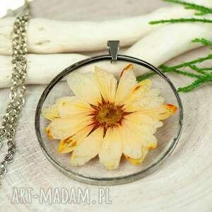 ręcznie wykonane naszyjniki naszyjnik z kwiatów w cynowej ramce z422