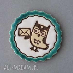 masz wiadomość-magnes ceramika, messenger, fb, prezent, kolekcjoner, urodziny, sowa