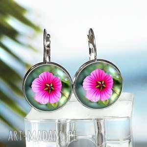 kolczyki z hawajskimi kwiatami - ,kolczyki,hawajski,egzotyczny,kwiatki,kwiatuszki,modne,