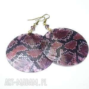 alloys collection -snake/violet/-kolczyki, stal szlachetna, mosiądz, swarovski