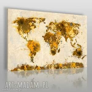 obraz na płótnie - mapa kontynenty 120x80 cm 06302 , mapa, kontynenty, państwa