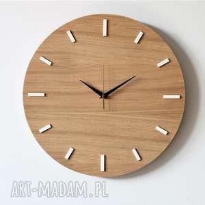 ręcznie robione zegary 40 cm, zegar ścienny dąb, nowoczesny zegar