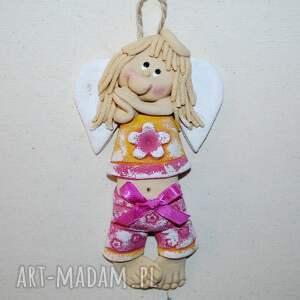 mała karolka - anioł z masy solnej, anioły, masa solna, dla dziewczynki