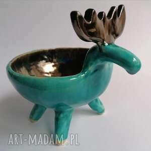 handmade upominek miseczka - renifer maks
