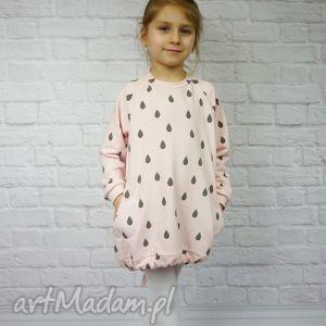 handmade ubranka sukienka dla dziewczynki 86-98 krople2