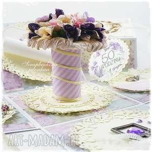 exploding box - urodzinowy, pudełko, box, kobieta, kwiaty bukiet, urodziny