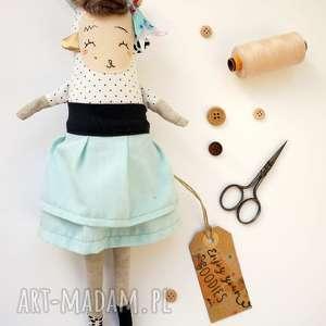 Prezent Lalka handmade z tkaniny - Kira Monsterówna, przytulanka, dla-dziewczynki
