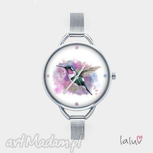 Zegarek z grafiką koliber zegarki laluv ptak, nektar, grafika