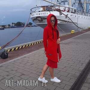 bluzy bluza damska na zamek czerwona, moda, styl, bawełna, wygoda, fashion
