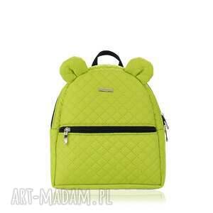 plecaczek farbiś 652 limonkowy, plecak, farbiś, dziecko, plecaczek, rękodzieło