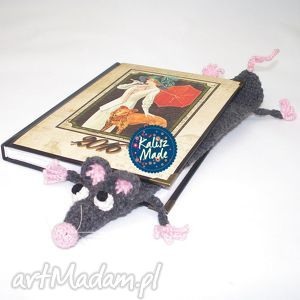 szczurek książkowy - zakładka, szczur, szczurek, książki, prezent, czytanie
