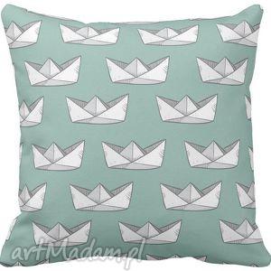 dla dziecka poszewka na poduszkę dziecięca papierowy statek origami 3056