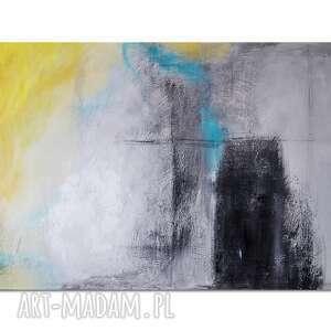 abstrakcja xzs, nowoczesny obraz ręcznie malowany, obraz, ręcznie, malowany