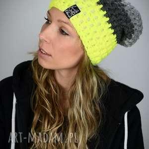 czapka triquence 24 - żółta fluo, fluo czapka, kolorowa na zimę