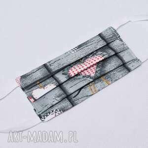 maska maseczka damska dwuwarstwowa kosmetyczna bawełniana streetwear