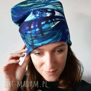 oryginalny prezent, czapki czapka oko, malowane ręcznie, abstrakcja, akwarela