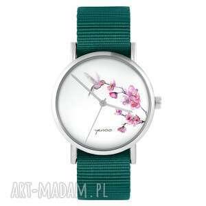 zegarek - koliber morski, nylonowy, zegarek, nylonowy pasek, typ militarny
