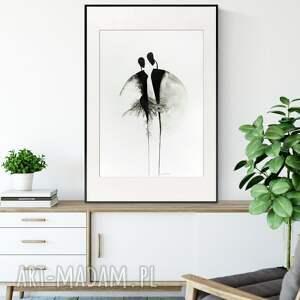 obraz ręcznie malowany 50 x 70 cm, nowoczesna abstrakcja, 2858177