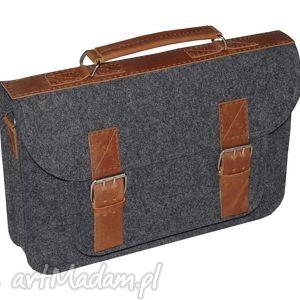 Filcowa torba na faptopa, torba, torebka, laptop, skóra, filc, personalizacja