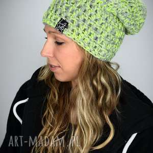 czapki czapka melange 01, melanż czapka, zimowa, ciepła