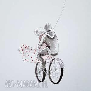 dekoracje z miłością im po drodze akwarela artystki adriany laube - miłość