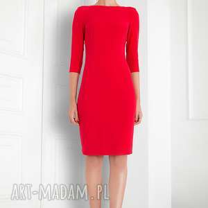 Dopasowana sukienka midi , sukienka, elegancka, dopasowana, dopracy, uniwersalna