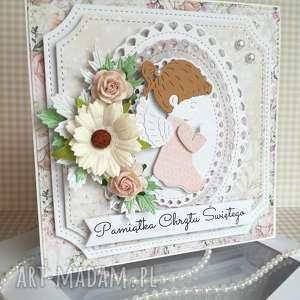handmade scrapbooking kartki kartka w pudełku chrzest święty