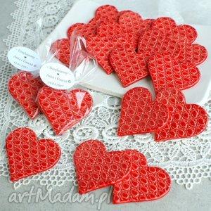 ślub podziękowania weselne, serce, magnes, ceramiczne, wesele, podziękowania, goście