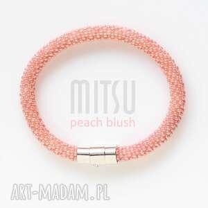 peach blush - peach, róż, brzoskwiniowe, pastelowe, koralikowe, lato