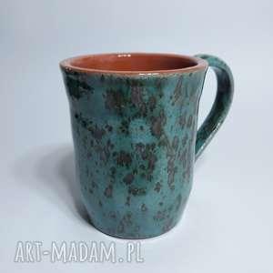 Kubek turkusowy, kubek, ceramika, glina, rękodzieło
