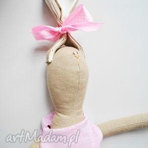 maskotki pani królik, tilda, przytulanka, maskotka, eko, prezent