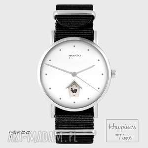 Prezent Zegarek - Domek dla ptaków czarny, nato , zegarek, bransoletka, nato, domek