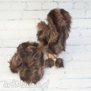handmade rękawiczki futerkowce
