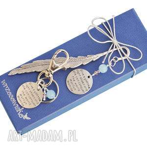 zakładki prezent dla kobiety - zakładka i brelok z cytatem marylin monroe