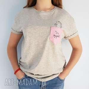 t-shirt i m magical M - ,unicorn,jednorożec,koszulka,kieszonka,haft,t-shirt,