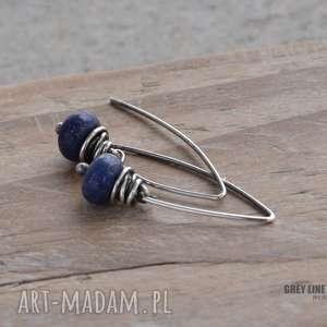 kolczyki z lapis lazuli, lapis, srebro kolczyki