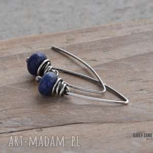Kolczyki z lapis lazuli, lapis, srebro