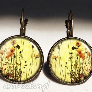 egginegg polne kwiaty - duże kolczyki wiszące, kwiatowe, prezent