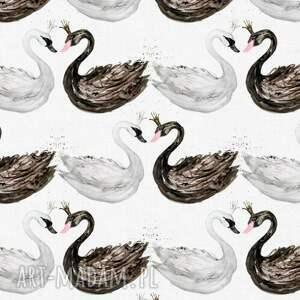 OTULACZ BAMBUSOWY Swan 75x100, bambus, bambusowy, otulacz, kocyk, łabędzie, dziecko
