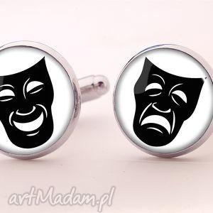 maski teatralne - spinki do mankietów, facet