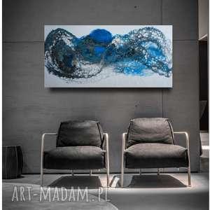 Abstrakcyjny obraz do salonu 'morska fala' art is hard gallery